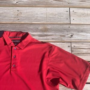 FootJoy Solid Red Golf Polo Summer Lightweight
